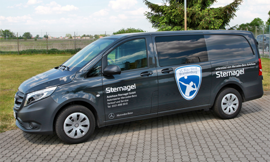 Sponsorenfahrzeug für VC Blau Weiß Brandenburg e.V.